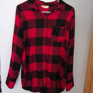 red and black Hollister flannel